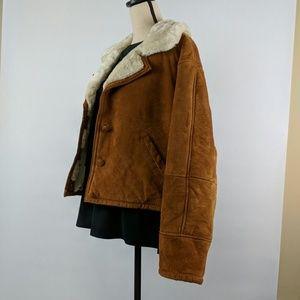 Suede jacket size large saddle tan